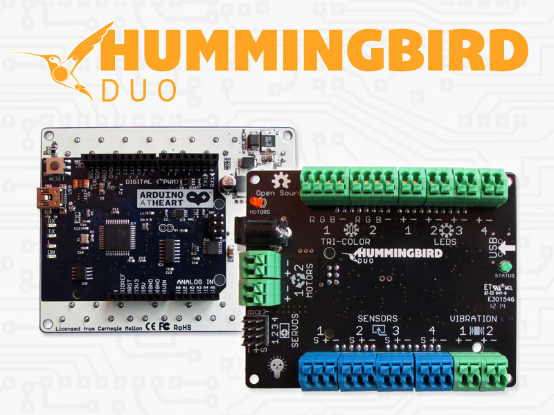 Physical Computing Project Showcased on Hummingbird Web Site!